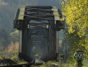 Eisenbahnbrücke über die Weser bei Vlotho